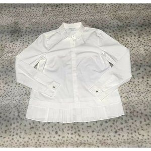 J Jill White Shirt Collection Button Up Pleated